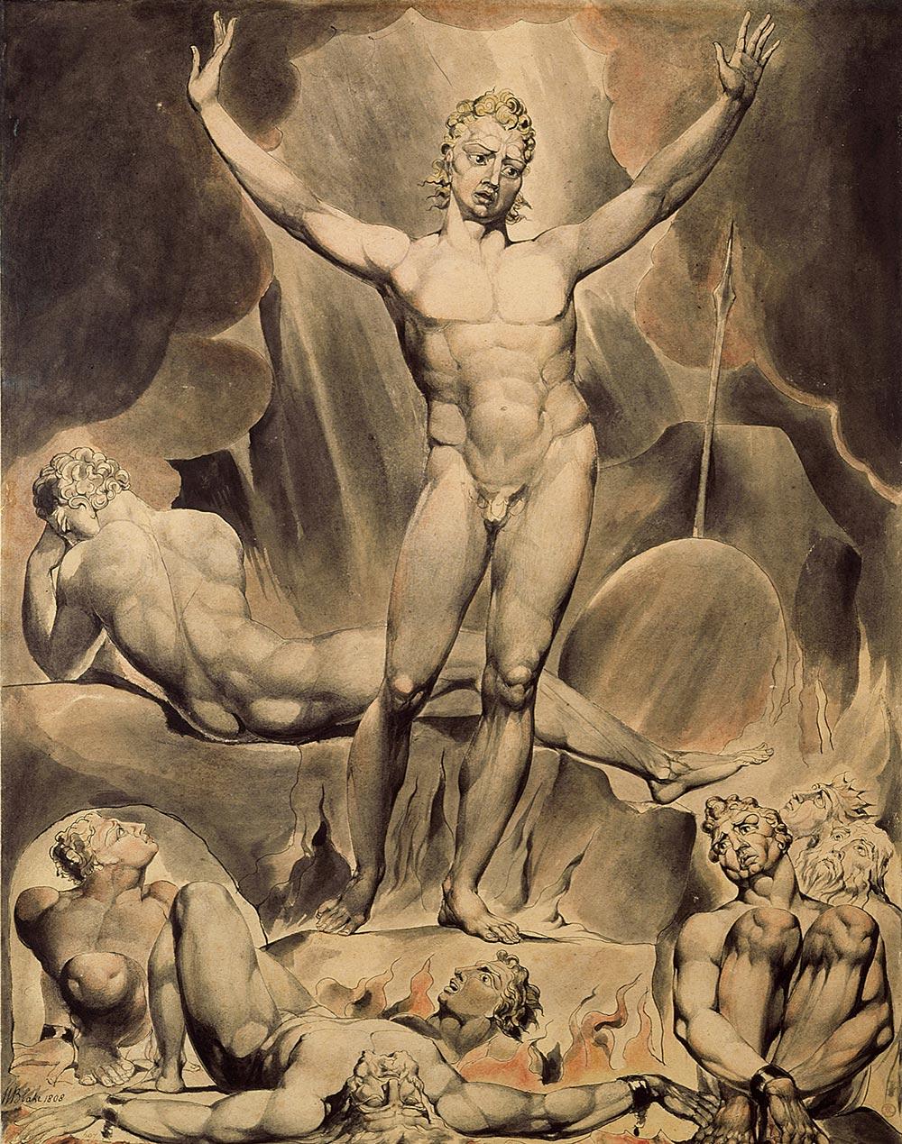 Satan Arousing the Rebel Angels William Blake