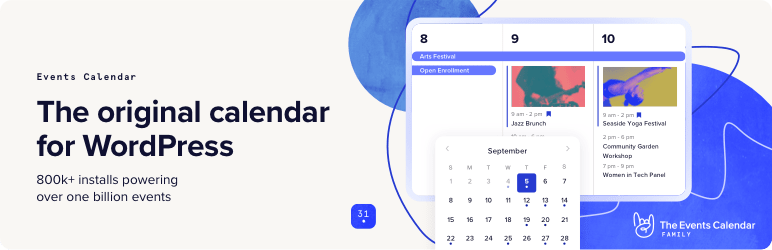The Events Calendar - 47 Best WordPress Website Widgets to Make Your Website Feature-Rich - ULTRAdvice-min