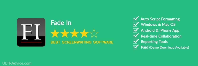 Fade In - Best Scriptwriting Software - ULTRAdvice.com