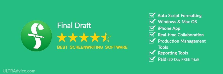 Final Draft - Best Scriptwriting Software - ULTRAdvice.com