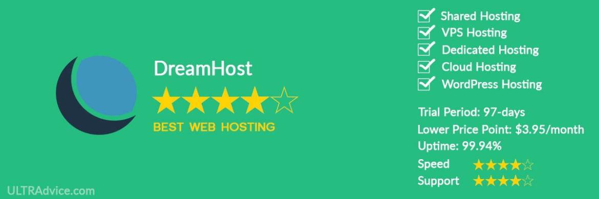 DreamHost - Best Web Hosting for Small Business - ULTRAdvice.com