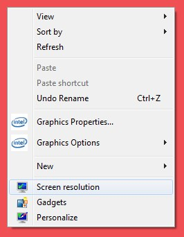 Windows 7 Screen Resolution Options - ULTRAdvice.com