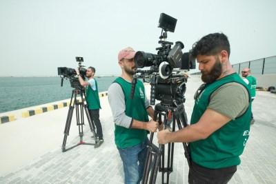 Qatar filming crew
