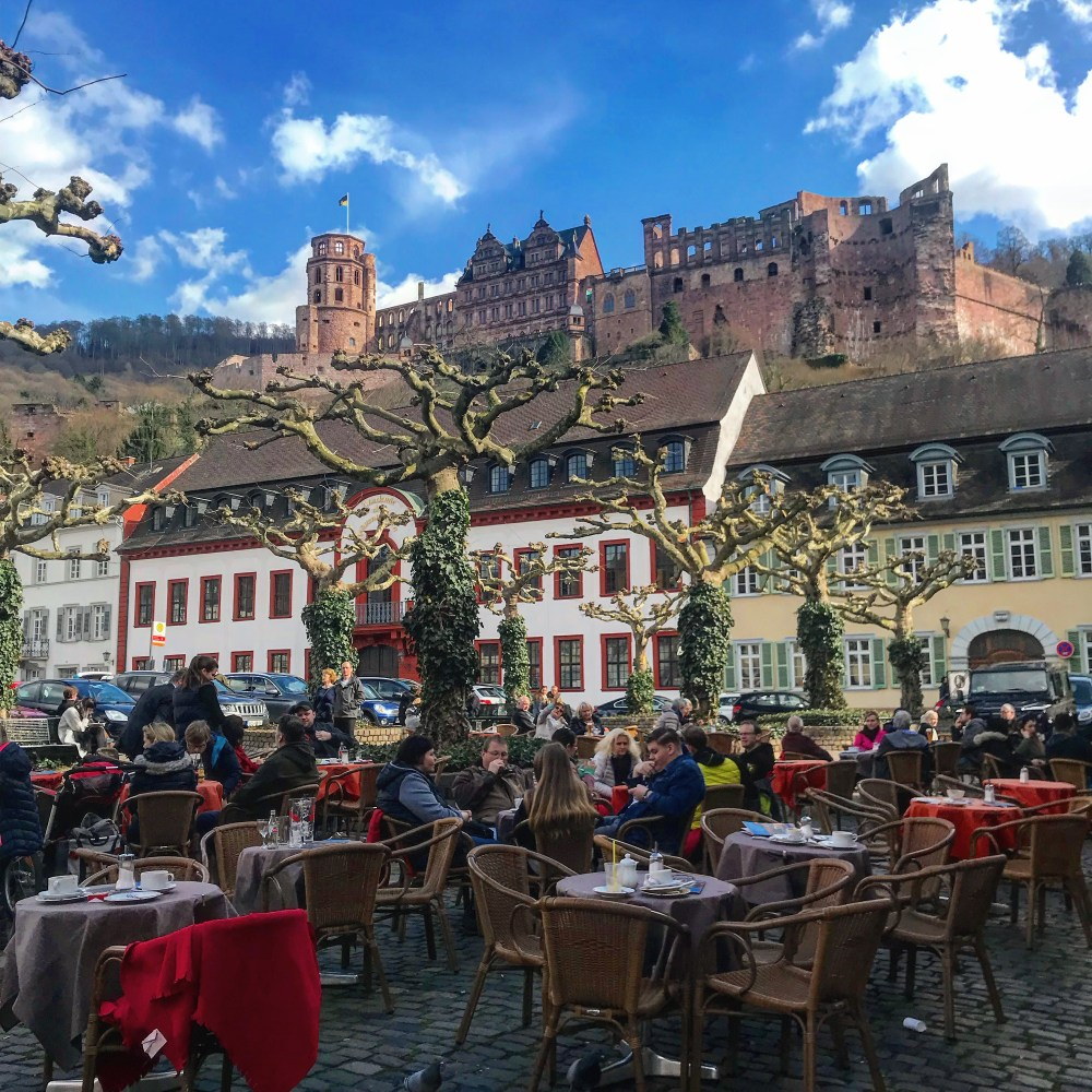 Castelo de Heidelberg visto do Centro Antigo da cidade