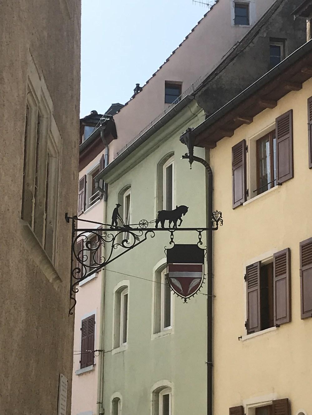 Detalhes das ruas de Altkirch, capital do Sungau