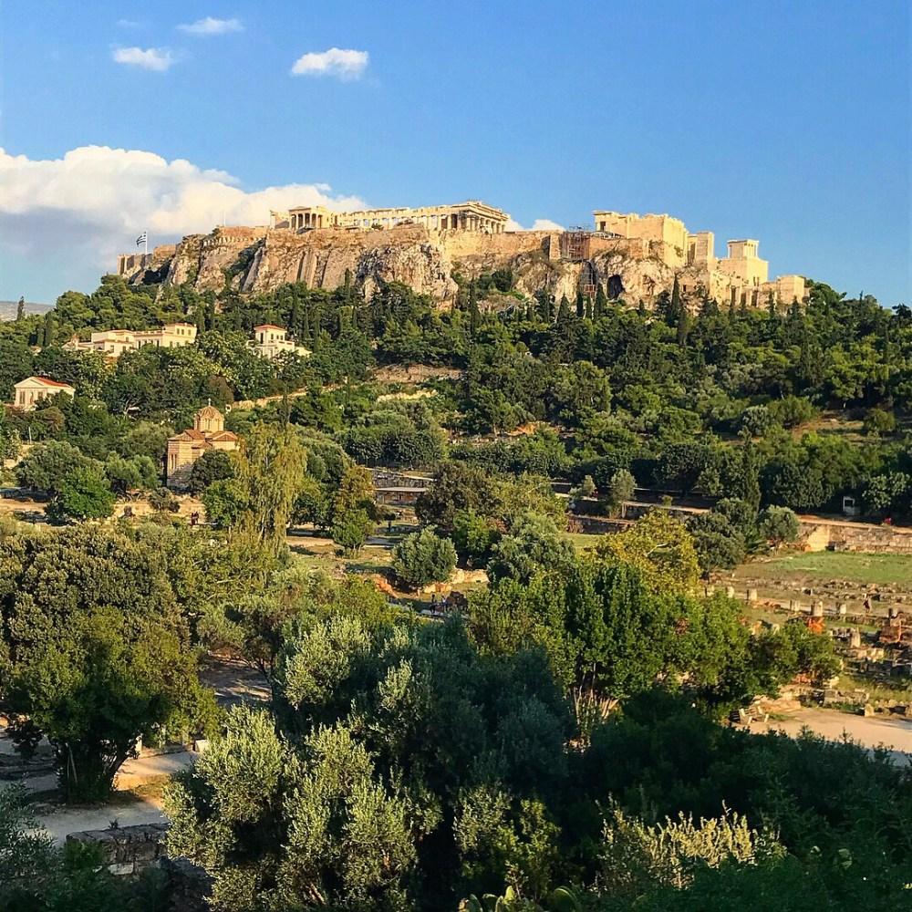 A famosa Acrópolis, em Atenas