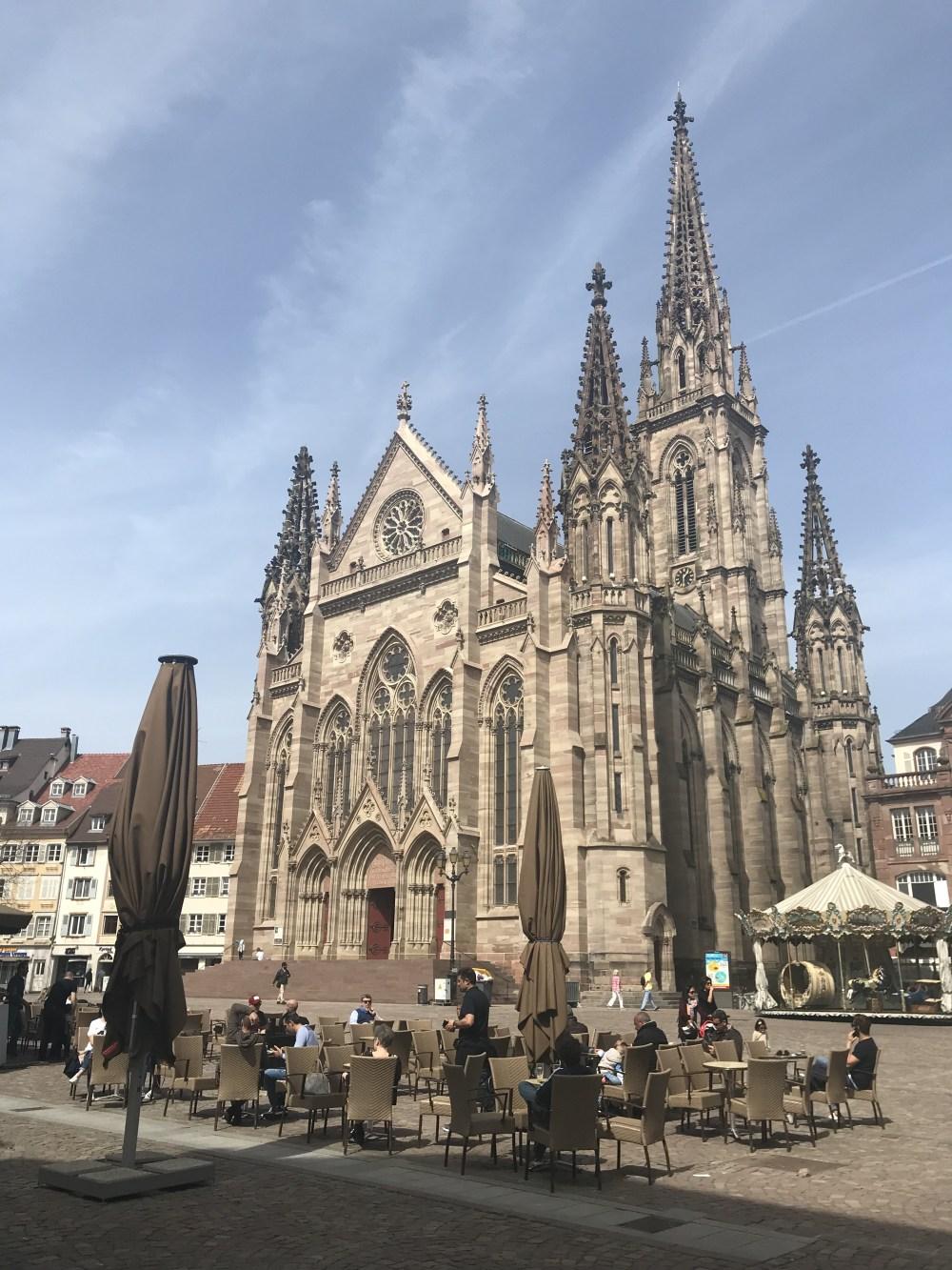 A praça central de Mulhouse