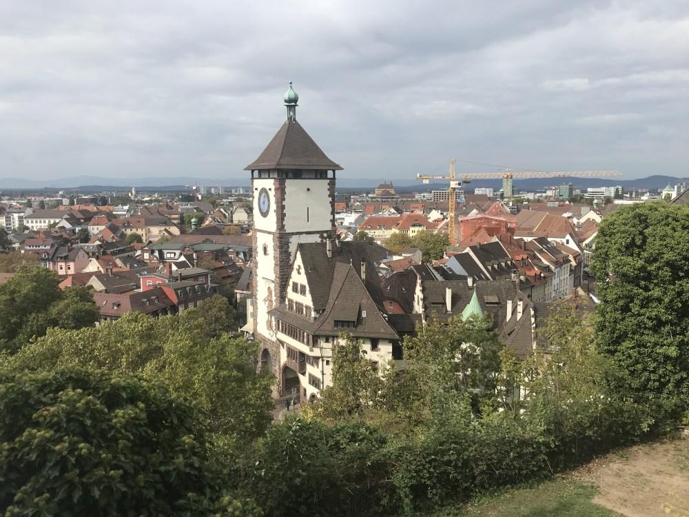 A vista em cima do Schlossberg, em Fribourg