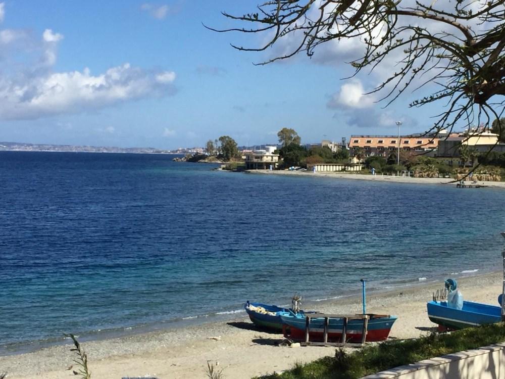 A costa de Reggio Calabria