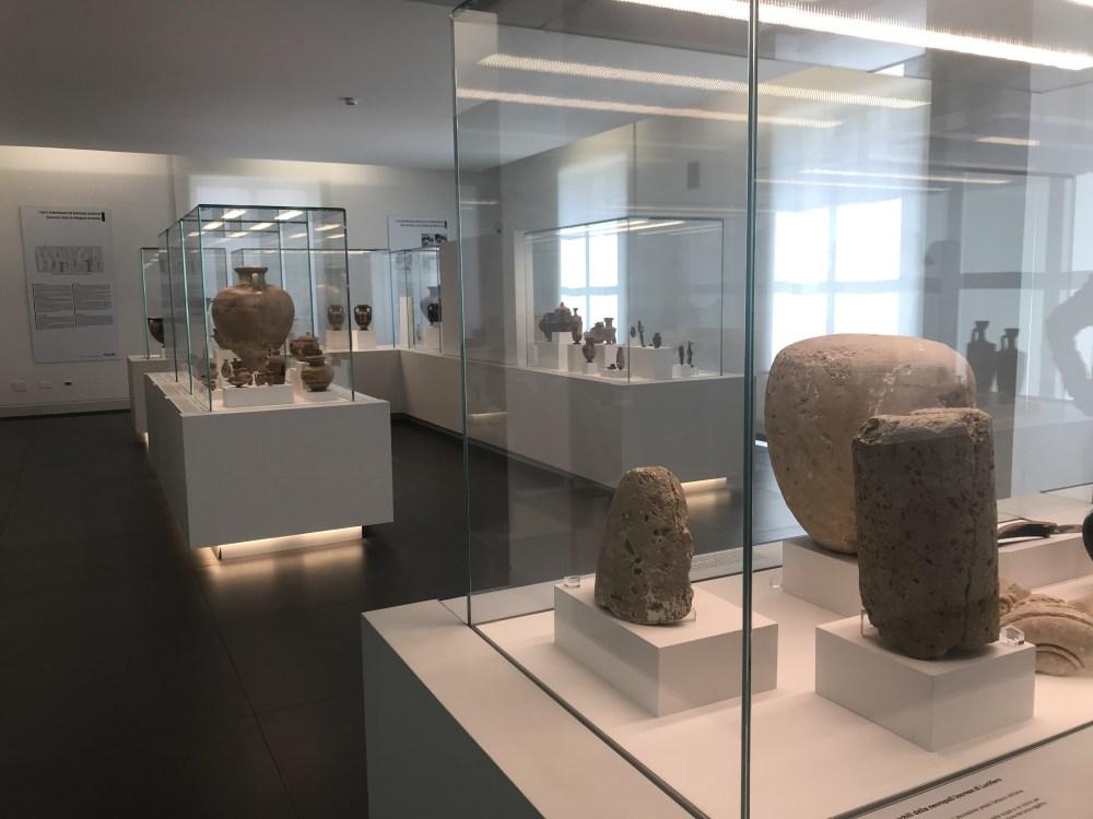 Peças do Museo do Bronzi de Riaci (MArRC), em Reggio Calabria