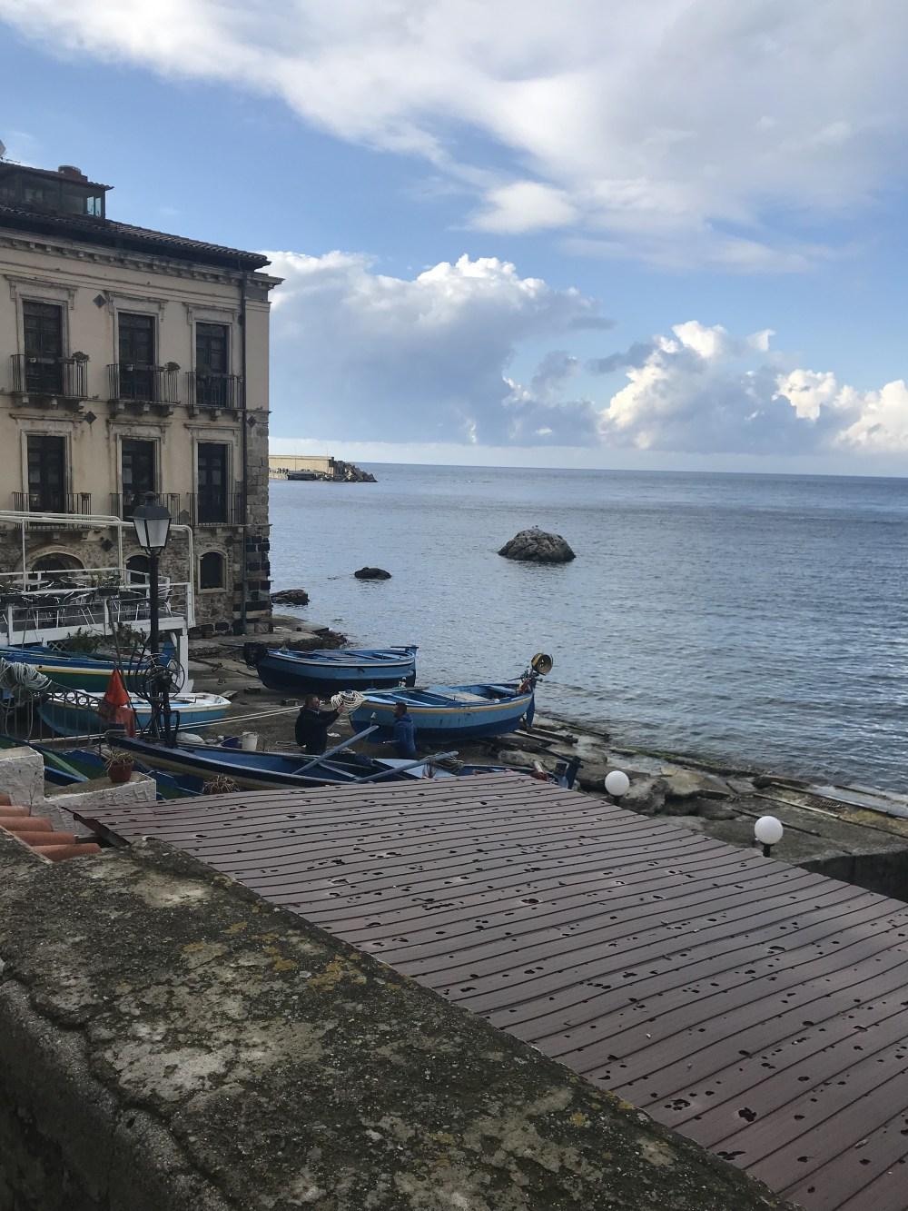 As ruas de Chinalea, em Scilla, Calabria