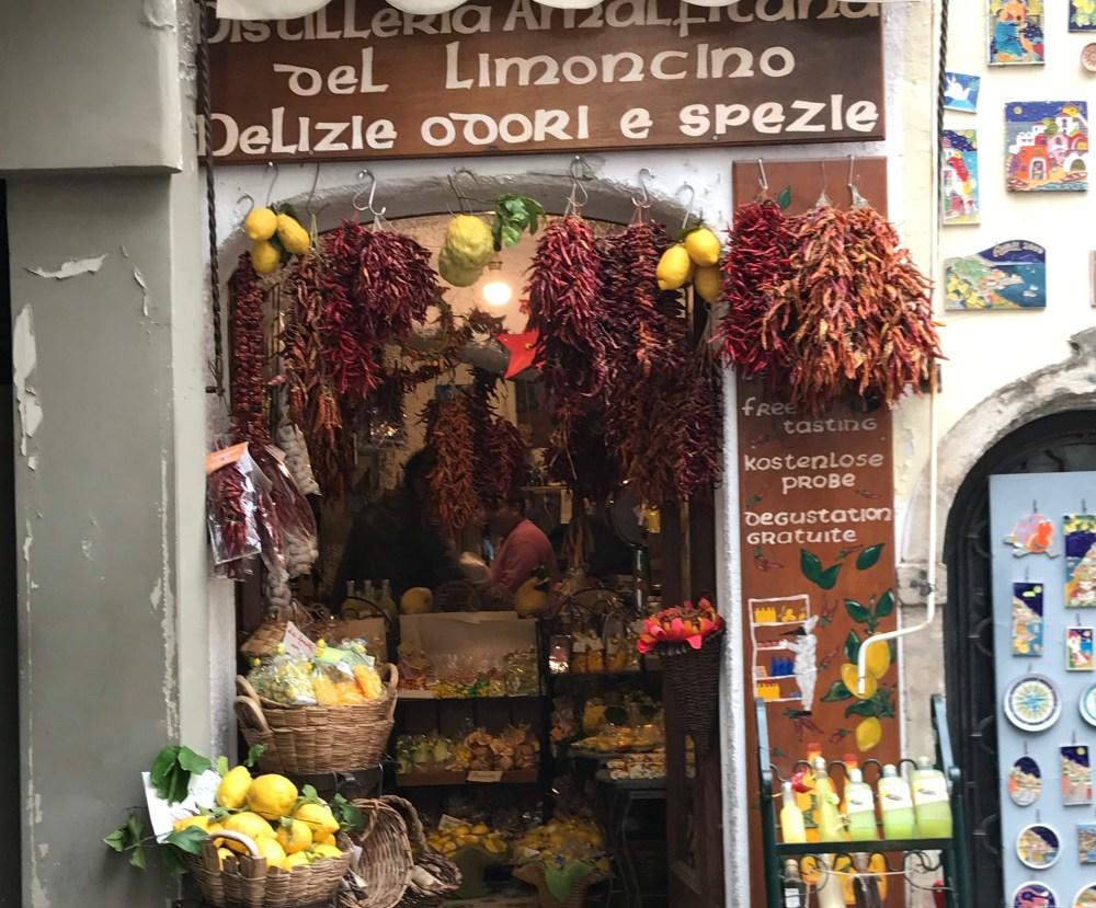 Limoncello e outros itens gastronômicos também!