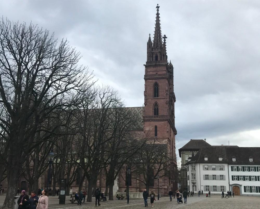 A catedral de Basel na primeira vez que fui à cidade. Estava muito frio...