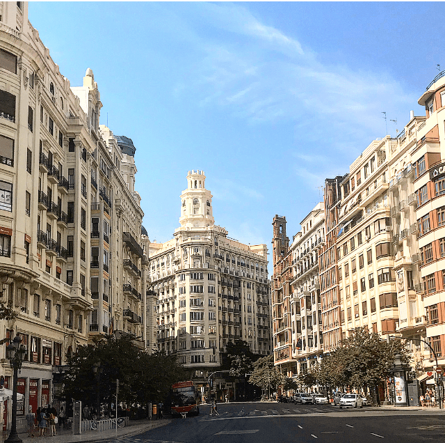 Tem muito charme para ver nas ruas de Valencia