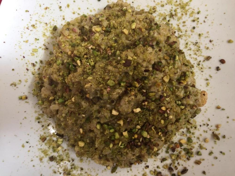 O inesquecível risotto de pistache que comi nessa viagem à Scilla, Calábria
