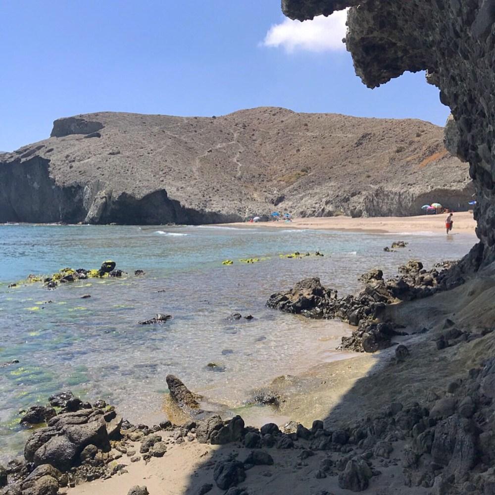 Uma das belas praias de Cabo de Grata, Almeria