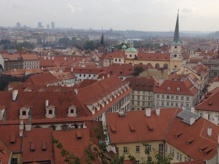 O que mais amei em Praga: a vista do Castelo para a cidade