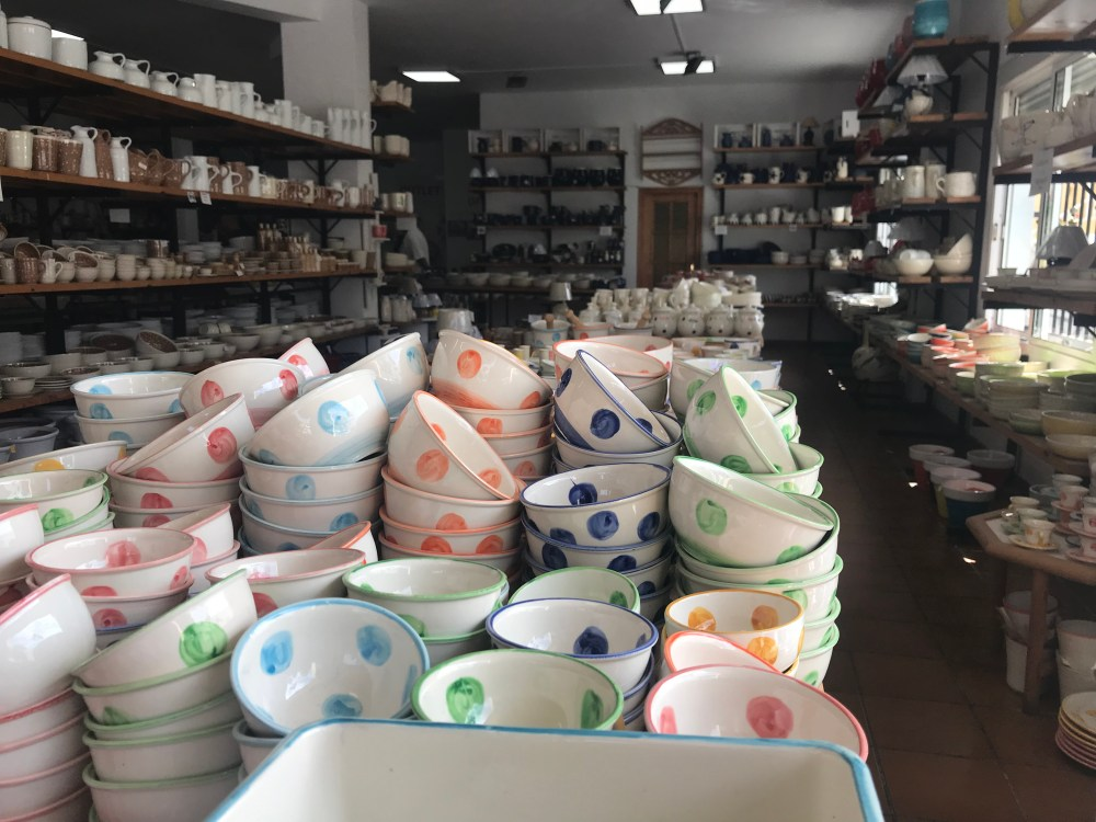 Exemplares da cerâmica de Níjar