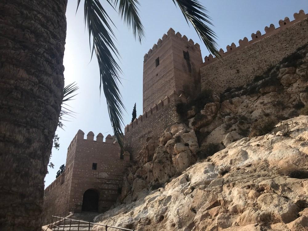 Alcazaba de Almeria visto por fora