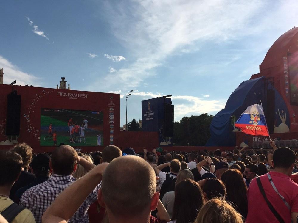 Os jogos da Copa da Rússia na Fifa Funfest de Moscow