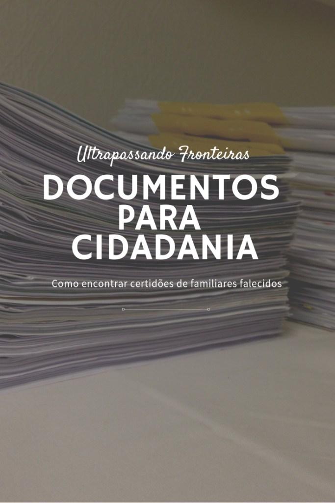 Como encontrar documentos de familiares falecidos