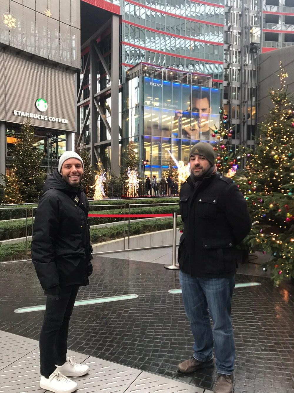 Sony Center de Berlim na época do Natal