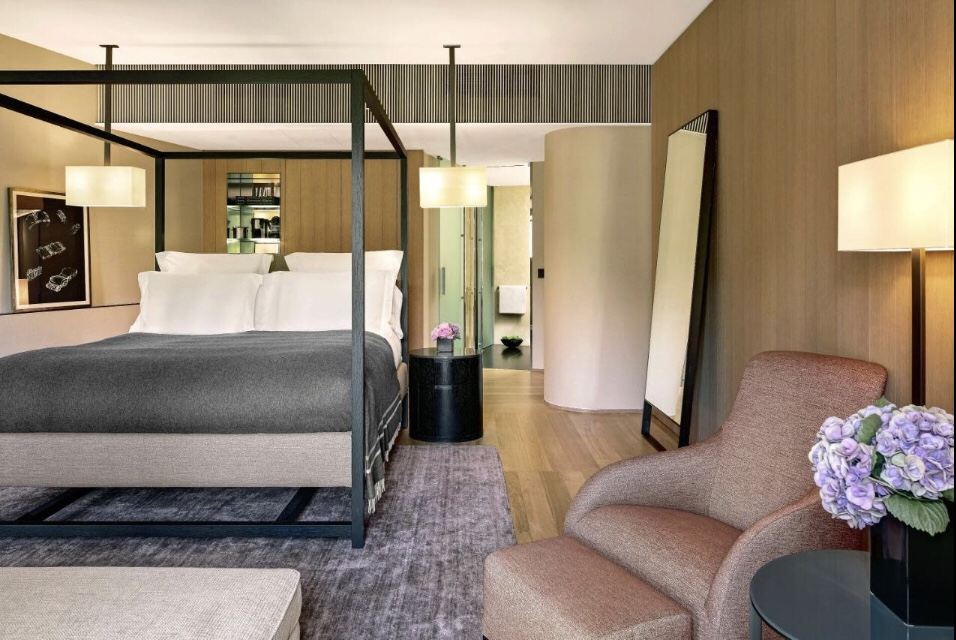 O quarto do maravilhoso Bulgari Hotel Milano Foto: Booking