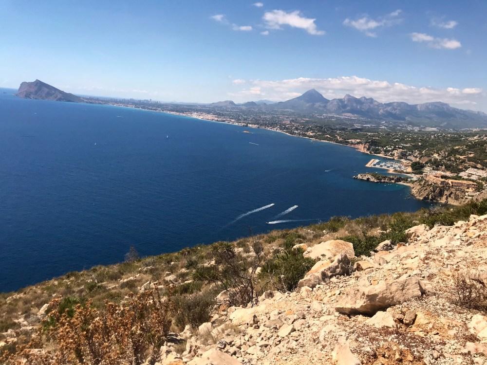 A vista do Monte Toix para a cidade de Altea, na Costa Blanca
