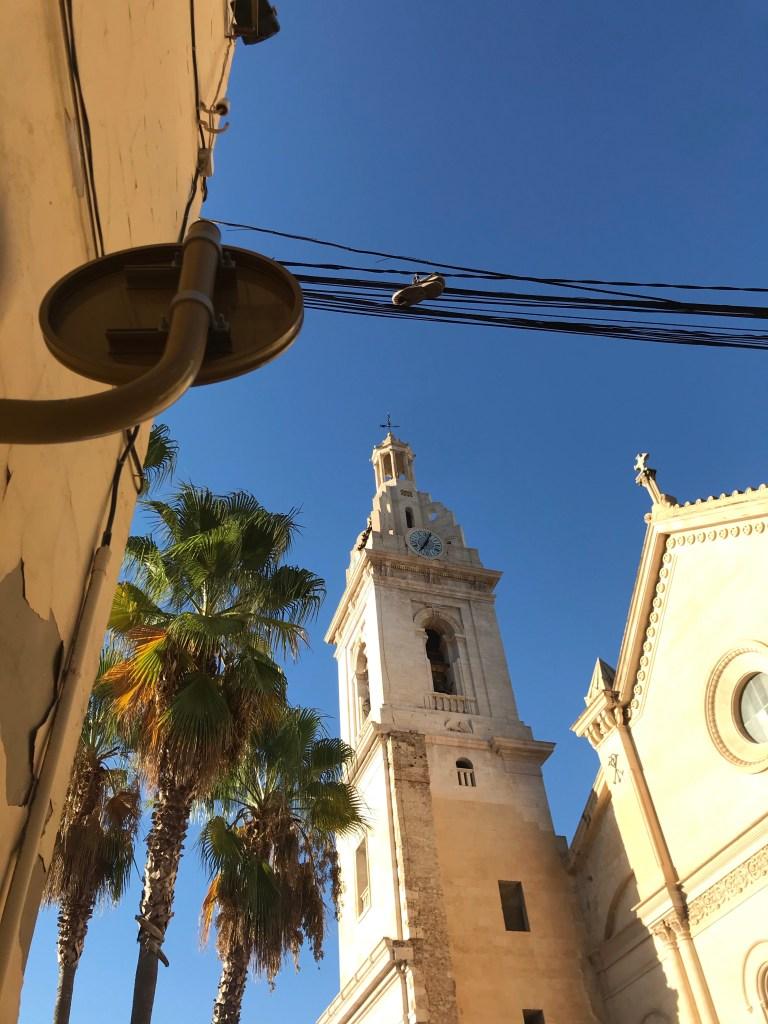 Torre da Colegiata de Xàtiva em Valencia
