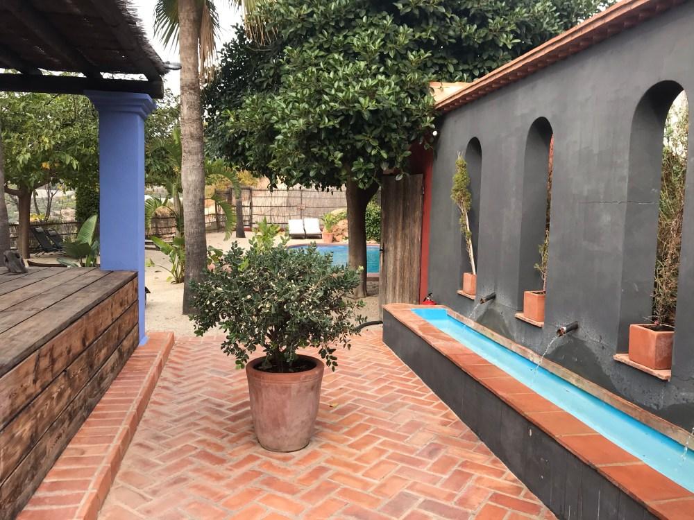 A piscina do hotel romântico Finca el Tossal de Bolulla Alicante