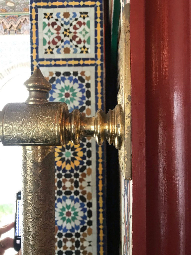 detalhes muçulmanos das salas do palácio de Anna, na Província de Valencia