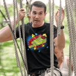 """Men's T Shirt that says """"Achieve Awesomeness."""""""