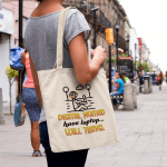 """Tote bag that says """"Digital Nomad. Have laptop…will travel."""""""