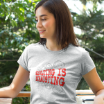"""Women's T shirt that says """"Adulting is Exhausting."""""""