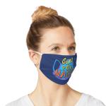 "Mask that says ""Glad you masked."""