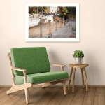 Art Print. Photo of people sightseeing near the columns and Byzantine ruins of the Cardo in the Jewish Quarter of the Old City of Jerusalem, Israel.