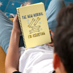 """Spiral notebook that says """"The New Normal. I'm Adjusting."""""""