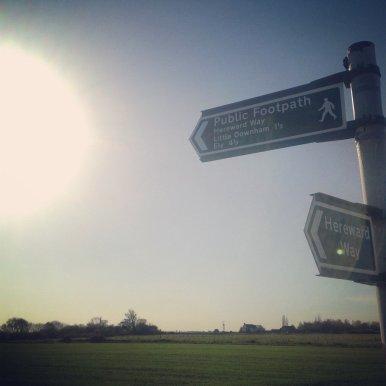 Homeward bound along Hereward Way