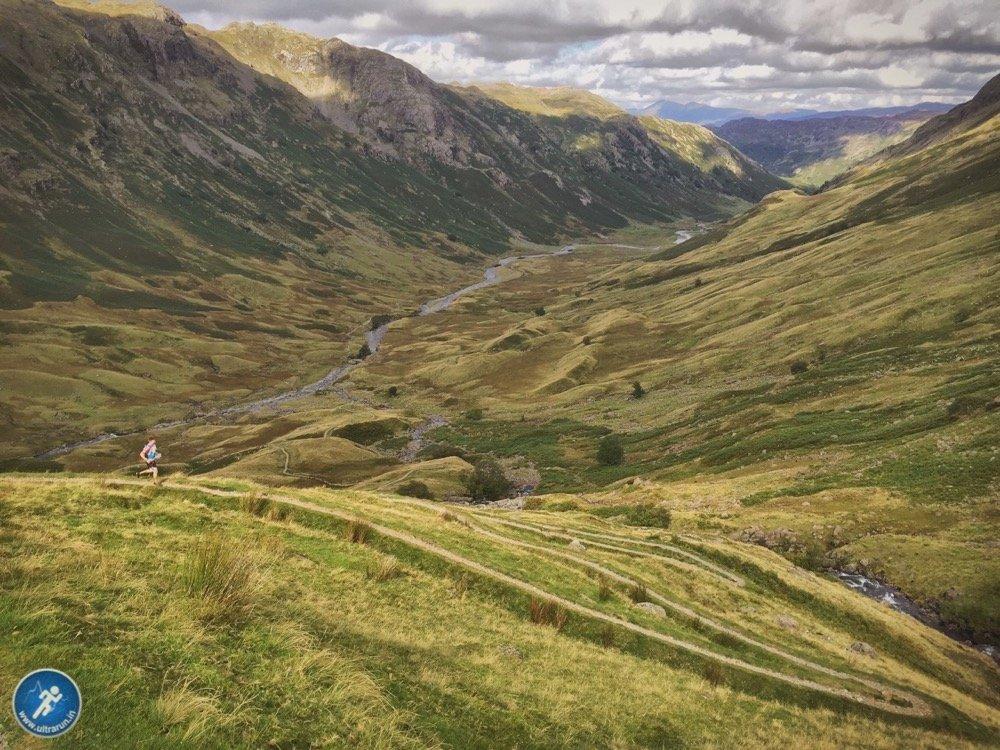 Singletrack descent to Langstrath