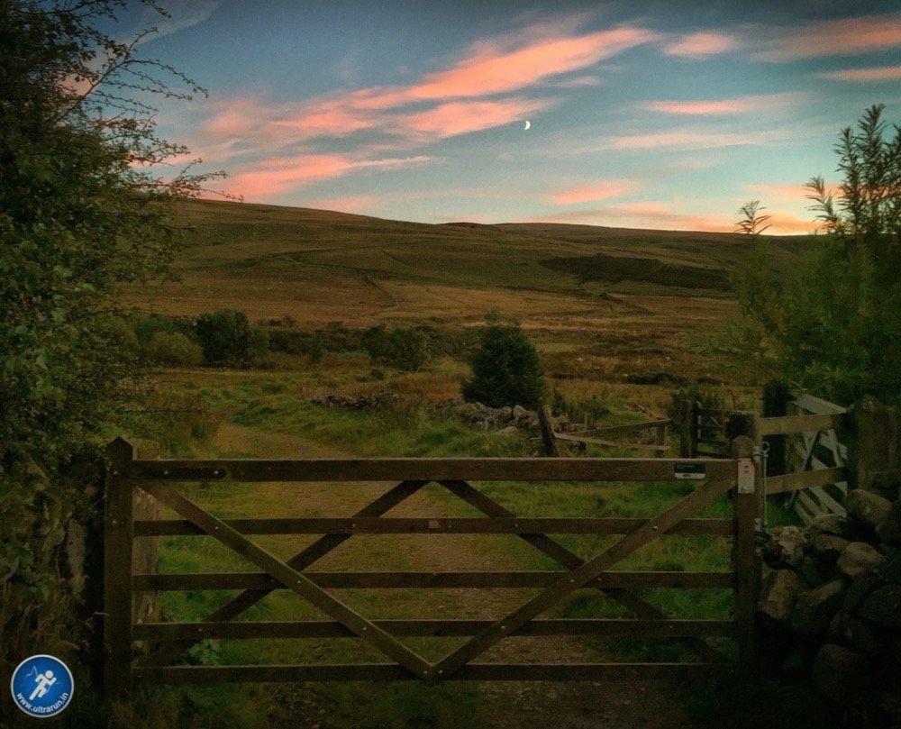 Moon rising over Northern Fells