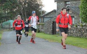 Giles and John Running at Dawn. Photo courtesy of Paul Wilson