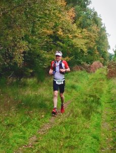 Giles running on lap 3 of Kings Forest 50km - Photo courtesy of Ian Foreman