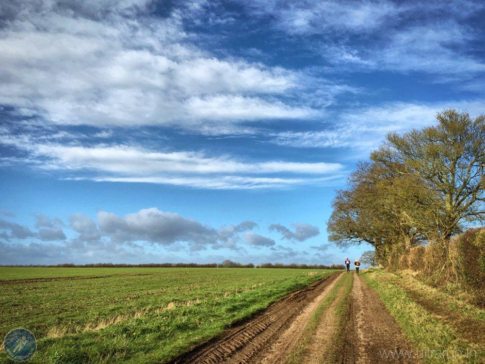 Heading North Under Blue Skies