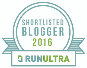 Shortlisted for RunUltra Blogger of the Year 2016