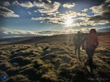 Racing the sun to Fleet Moss