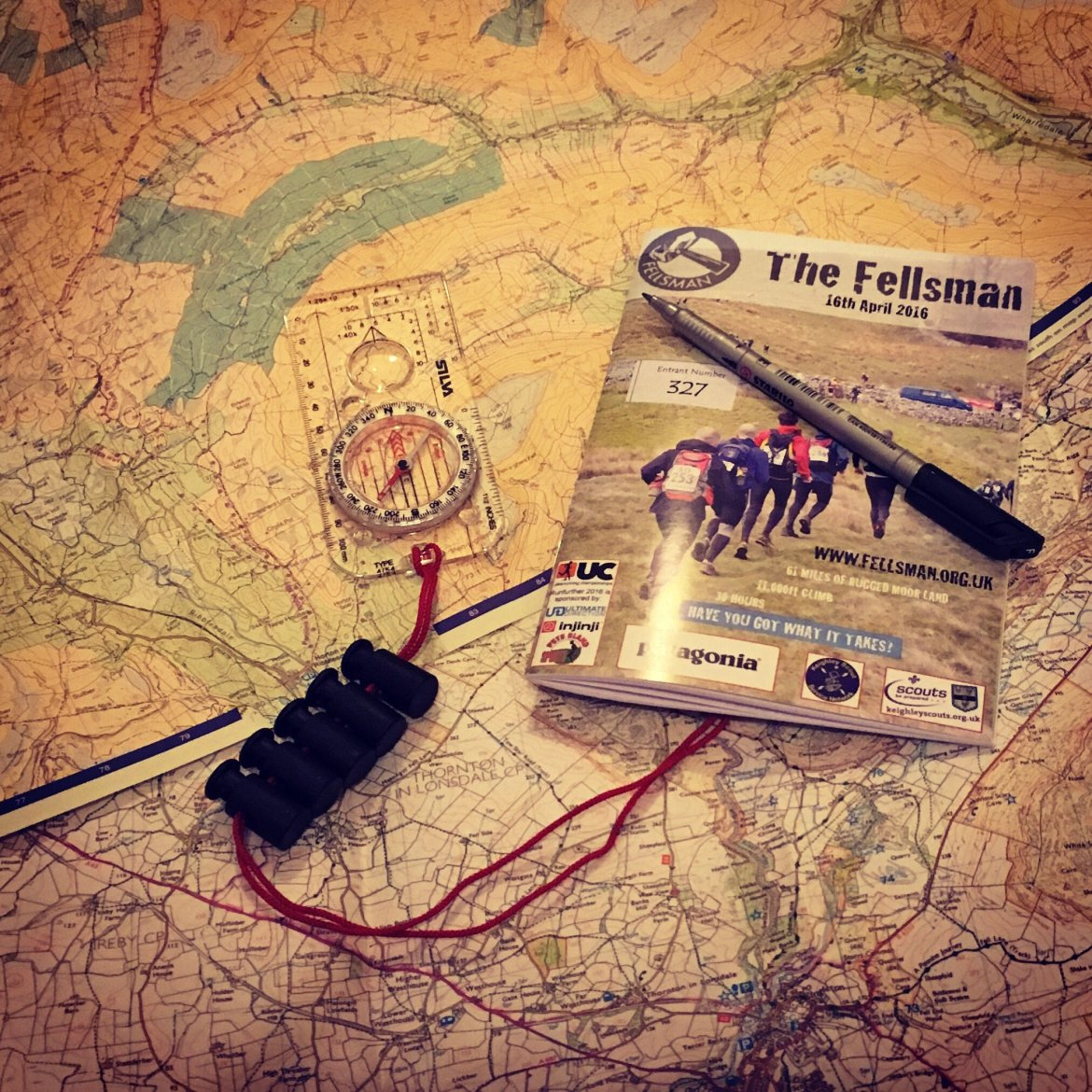 Route planning for the 2016 Fellsman
