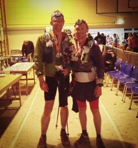 Giles and Andy, Lakeland Legends at the finish
