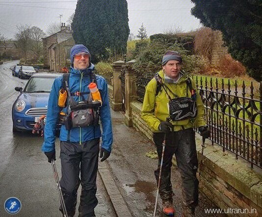 Arriving into Lothersdale looking forward to The Spine Special! Photo courtesy of John Figiel.