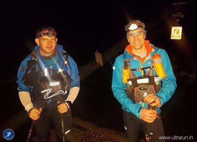 Arriving in Horton in Ribblesdale after a quick blast over Pen-y-ghent in the dark. Photo courtesy of John Figiel.