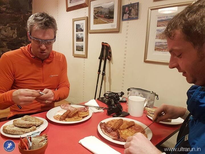 Pre-dawn full english in Pen-y-ghent Cafe. Something we'd promised ourselves 12 hours before! Photo courtesy of John Figiel.
